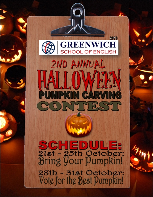 Halloween 2013 poster Greenwich School